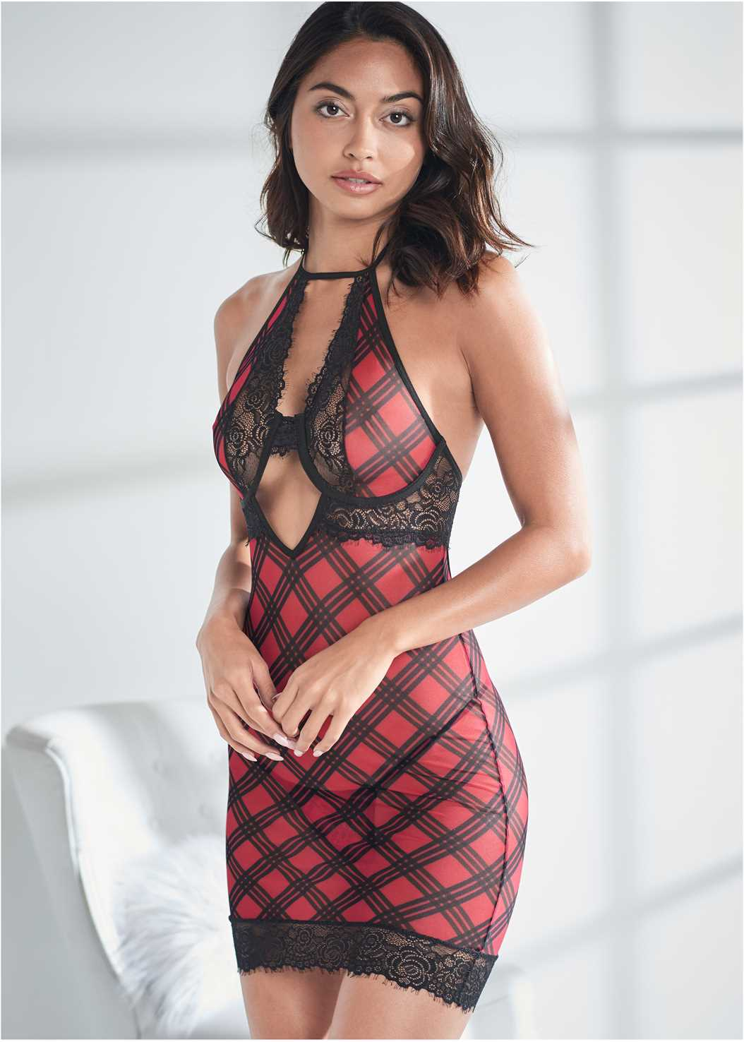 Wired Plaid Chemise