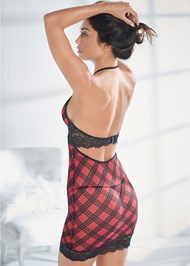 Back View Wired Plaid Chemise