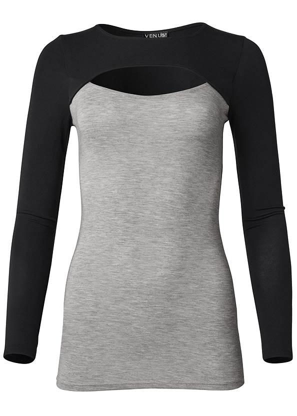 Ghost with background  view Color Block Casual Top