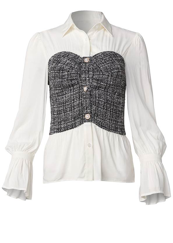 Ghost with background  view Tweed Twofer Blouse