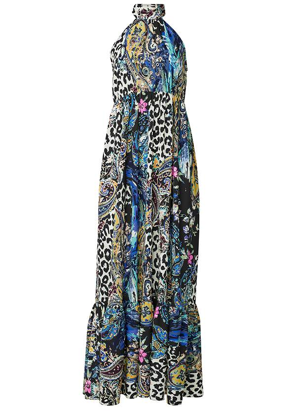 Ghost with background  view High Neck Maxi Dress