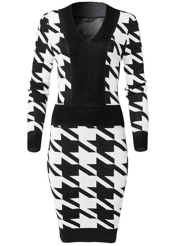 Ghost with background  view Houndstooth Sweater Dress