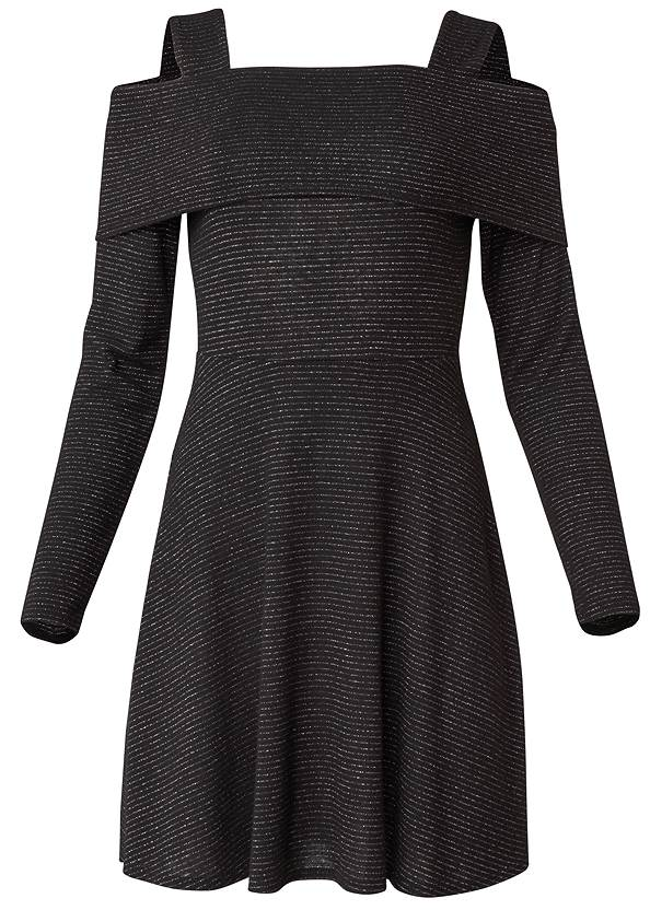 Ghost with background  view Cold Shoulder A-Line Dress