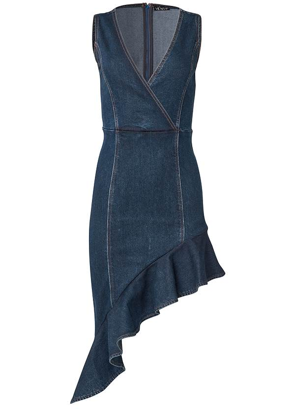 Ghost with background  view Asymmetrical Denim Dress