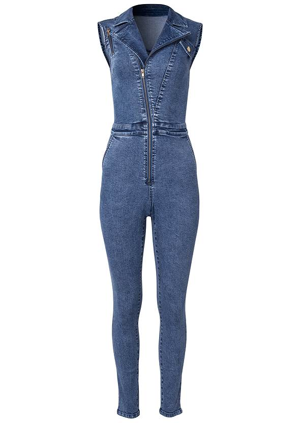 Ghost with background  view Denim Jumpsuit