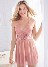 Cropped front view Floral Print Babydoll