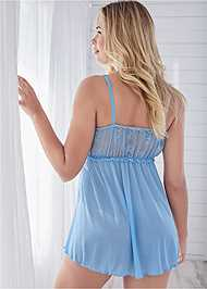 Cropped back view Lace Babydoll