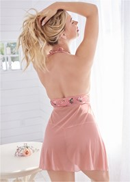 Cropped back view Floral Print Babydoll