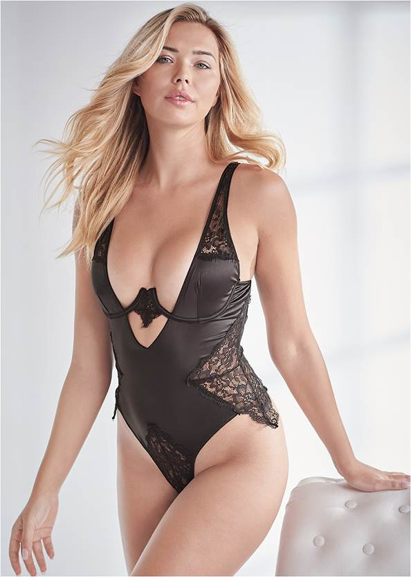Satin And Lace Bodysuit