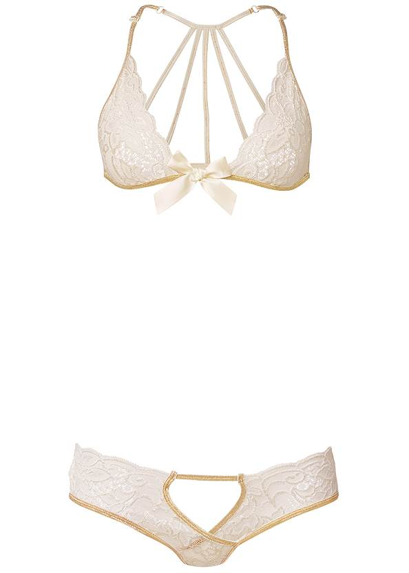 Ghost with background  view Lace Bra And Panty Set
