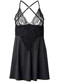 Ghost with background  view Lace Babydoll With Cutouts