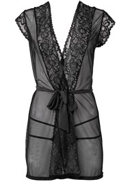 Alternate View Lace Short Sleeve Robe