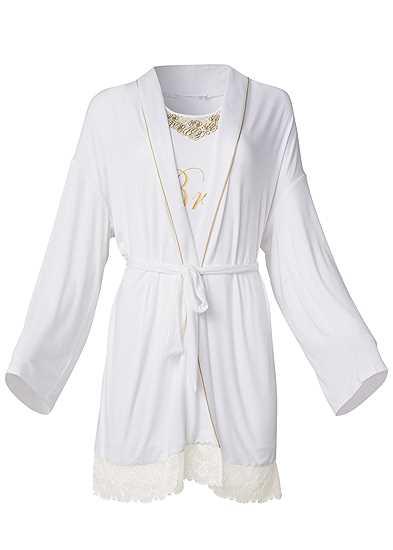 Plus Size Bride Sleepshirt Robe Set