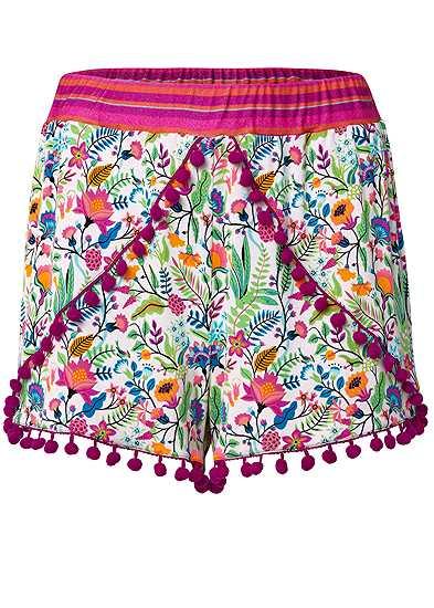 Plus Size Pom Pom Shorts