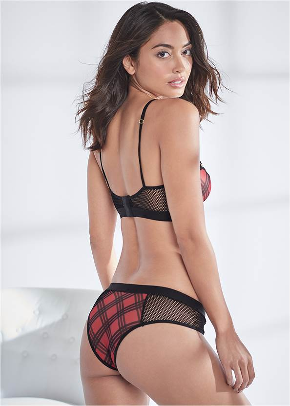 Back View Strappy Bra And Panty Set