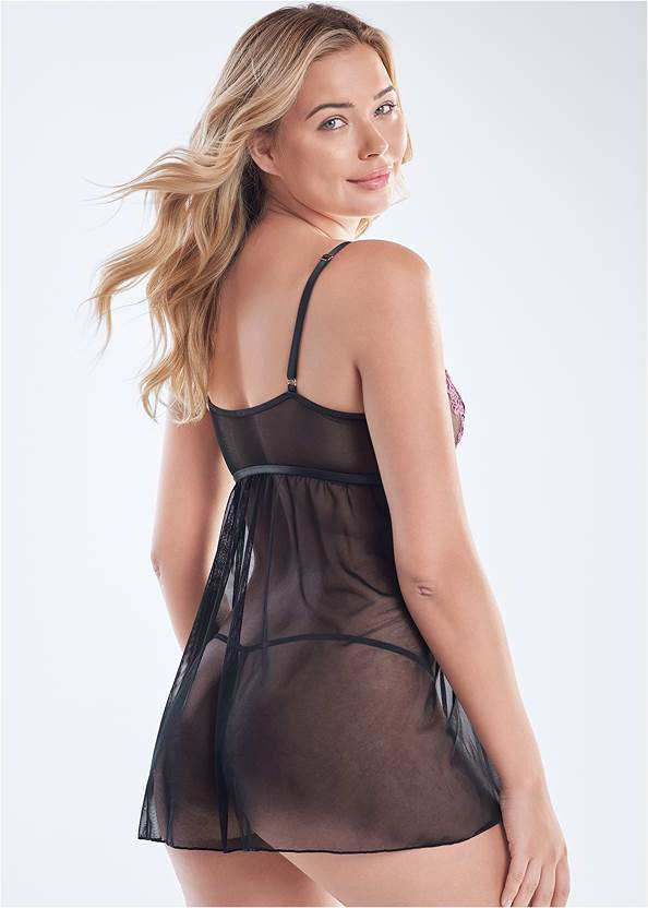 Cropped back view Strappy Flyaway Babydoll