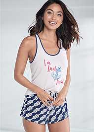 Cropped front view Tank Sleep Set