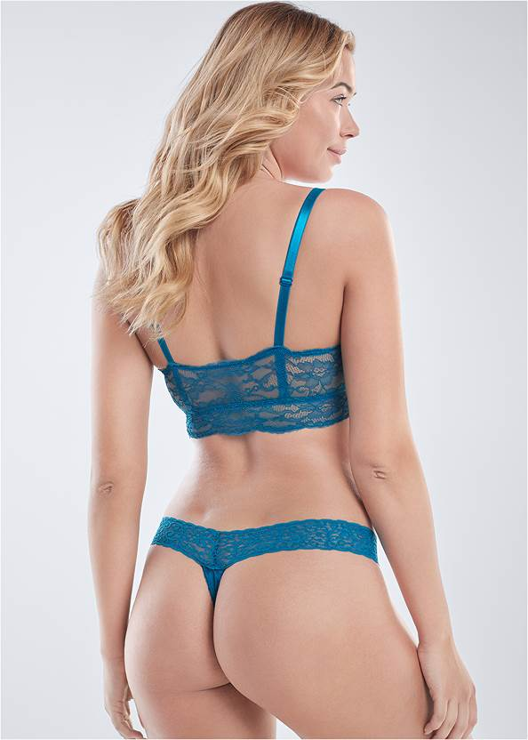 Cropped back view Pearl™ By Venus Lace Bralette