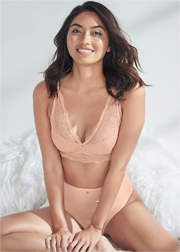 Cropped front view Pearl™ By Venus Lace Bralette