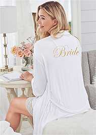 Alternate View Bride Sleepshirt Robe Set