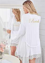 Back View Bride Sleepshirt Robe Set