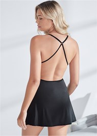 Back View Lace Babydoll With Cutouts
