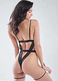 Cropped back view High Leg Body Suit