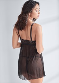 Cropped back view Geo Lace Babydoll