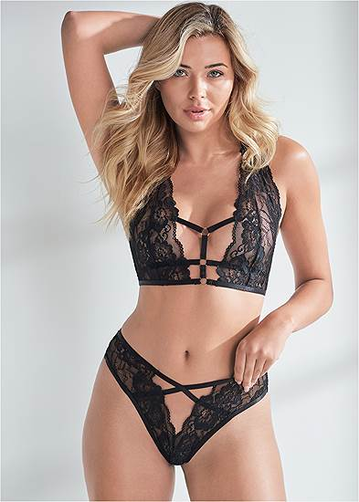 Strappy Bralette And Panty