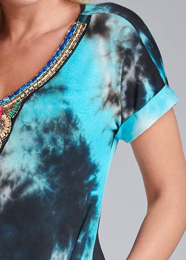 Detail front view Tie Dye Maxi Dress