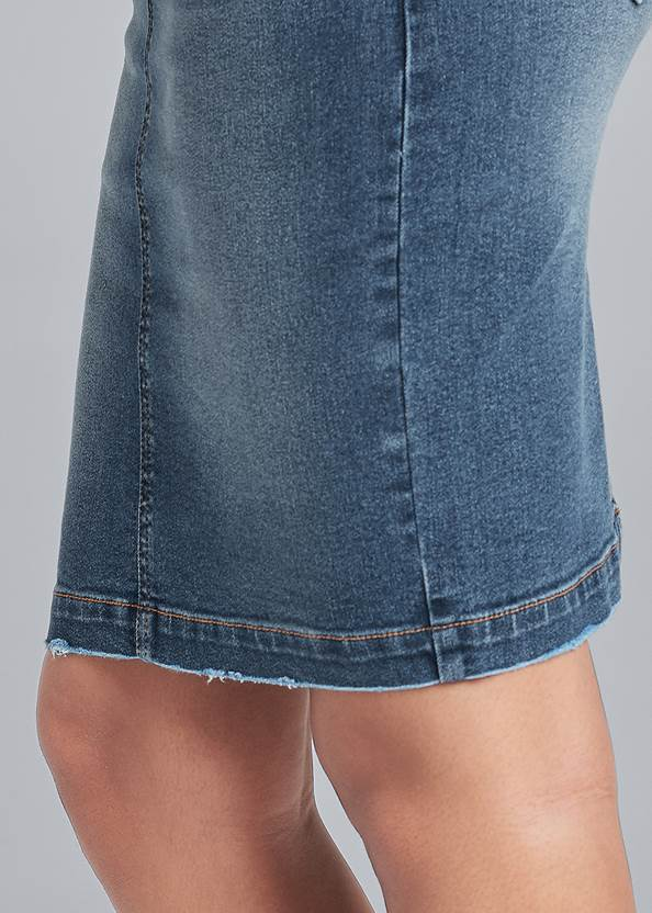 Detail side view Corset Jean Midi Skirt