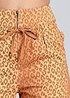 Detail front view Leopard Print Cargo Pants