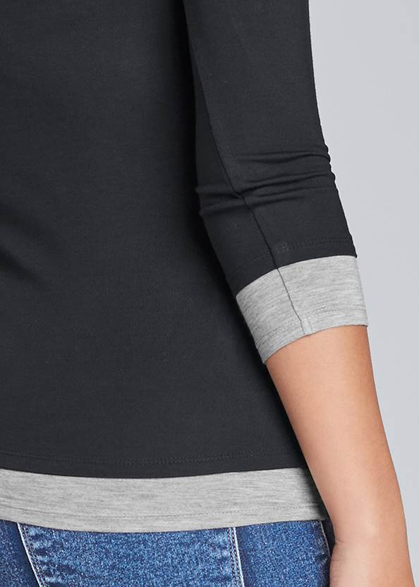 Detail back view Layered Casual Top