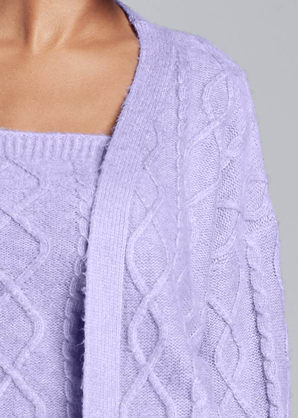 Detail front view Cable Knit Cardigan Set