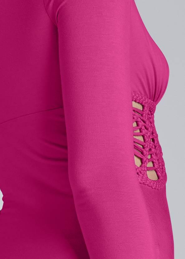 Detail back view Waistband Detail Maxi Dress