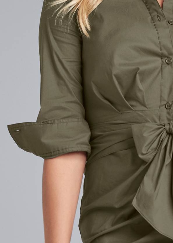 Detail front view Button Down Shirt Dress