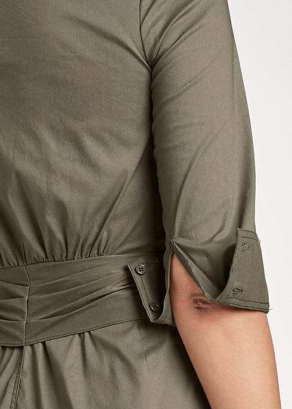 Detail back view Button Down Shirt Dress