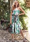 Front View Palm Print Jumpsuit