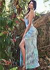 Back View Strappy Back Tie Dye Maxi Dress
