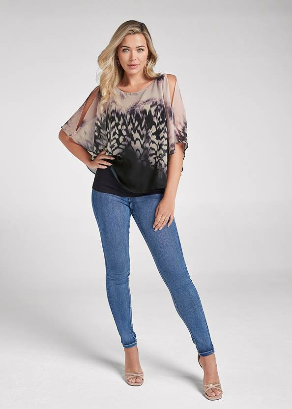 Full front view Printed Overlay Top