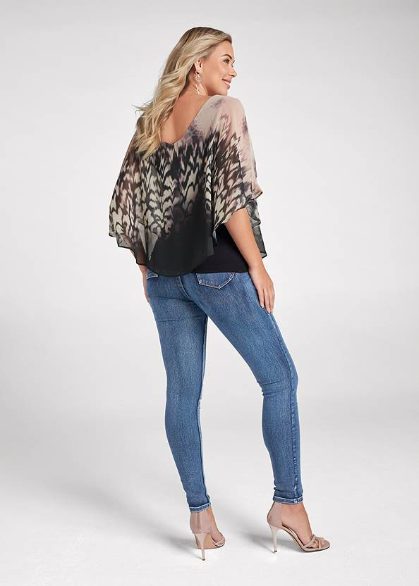 Full back view Printed Overlay Top