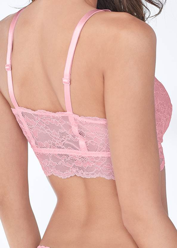 Detail back view Pearl™ By Venus Lace Bralette