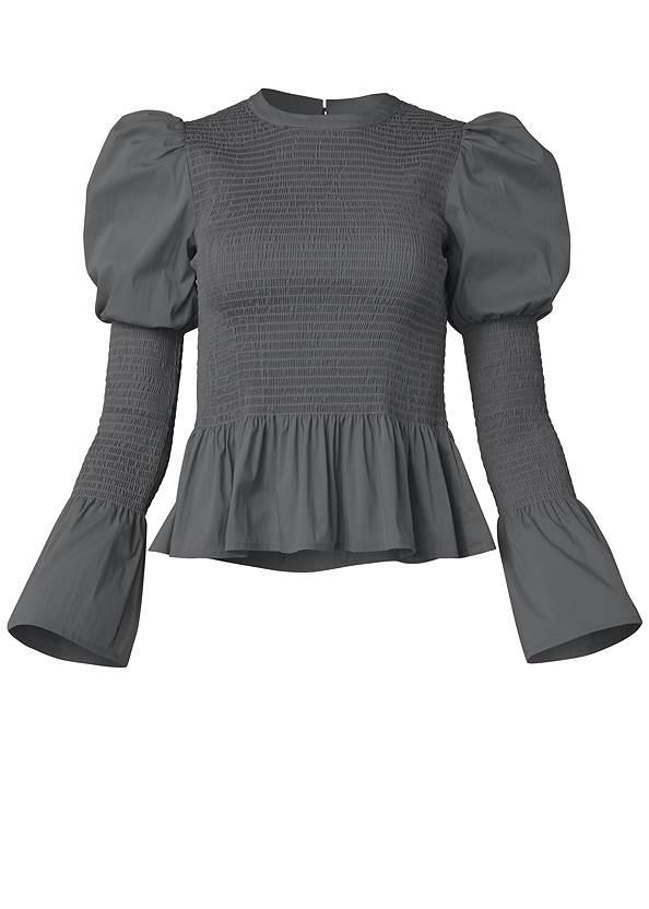 Ghost with background  view Smocked Peplum Blouse