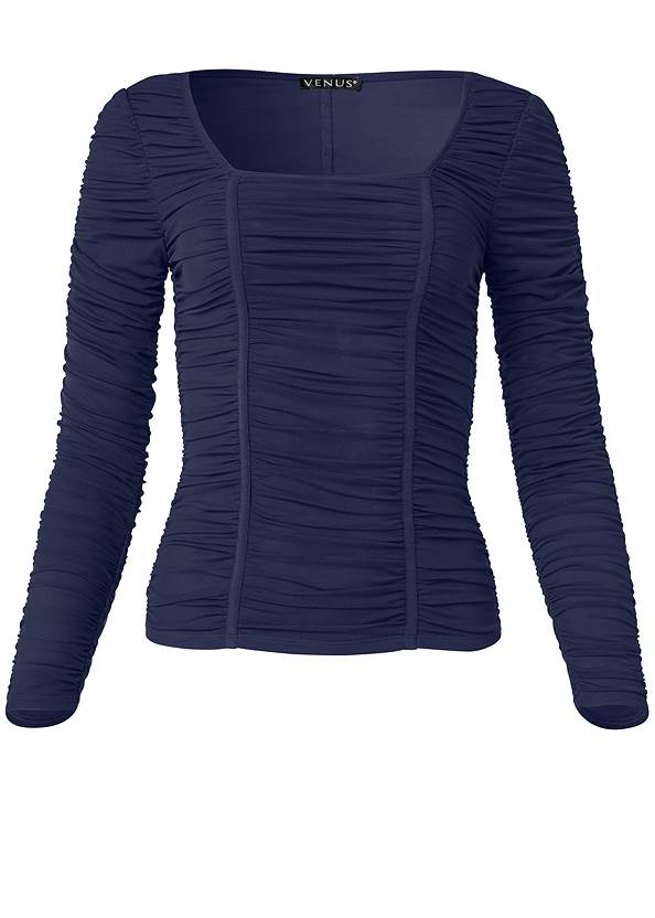 Ghost with background  view Mesh Ruched Top