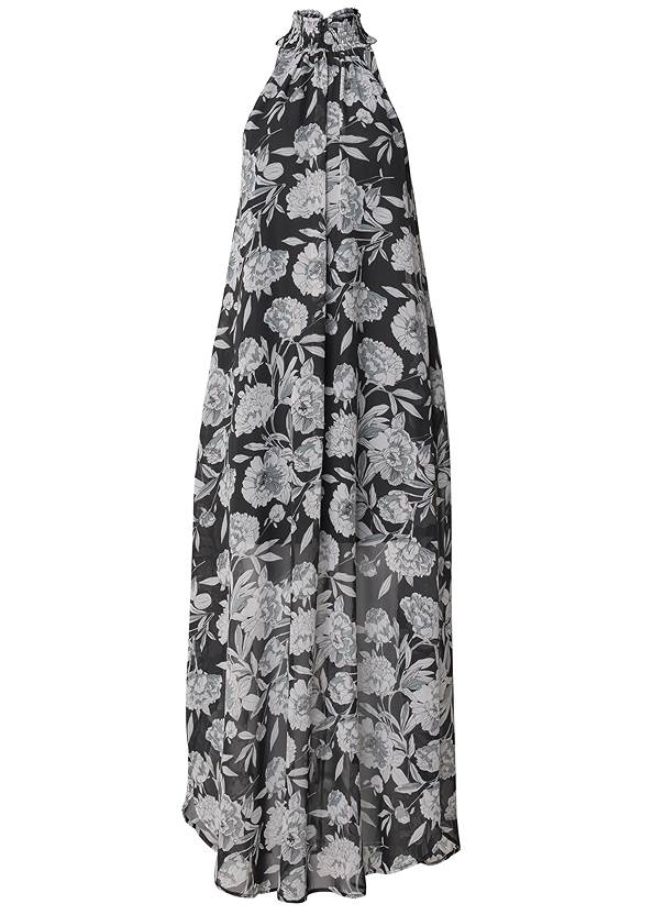 Ghost with background  view High Neck Floral Maxi Dress
