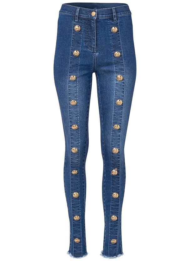 Ghost with background  view Button Detail Skinny Jeans