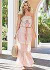 Full front view Embroidered Maxi Dress