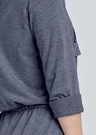 Detail back view Zipper Detail Lounge Dress