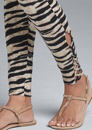 Alternate View Ankle Detail Leggings