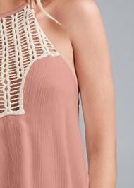 Alternate View Crochet Neckline Top